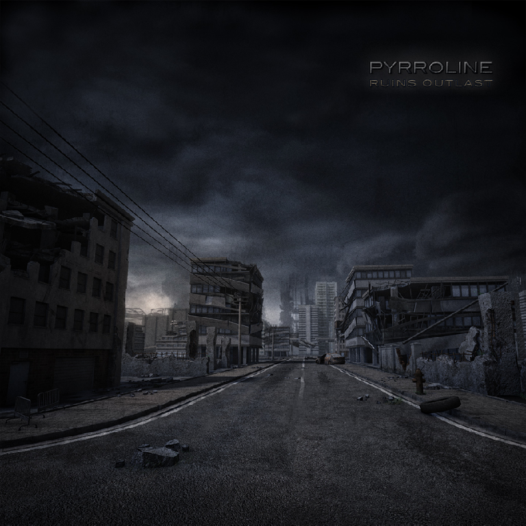 Pyrroline 'Ruins Outlast' cover artwork.